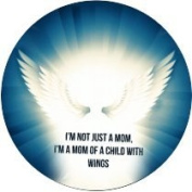18mm Snap Charms Buttons Interchangeable Jewellery Ginger CZ Mom of child with wings