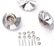 Studs Snap Nail Screws With Crystal Buttons 20mm