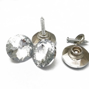 Upholstery Rhinestone Crystal Button Screw Stud Sockets Snap Fasteners 22mm