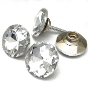 Crystal Snap Button With Screws Wood To Fabric Press Studs Snap Fastener 18mm