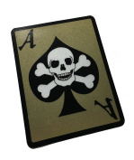 The Death Dealer Card, 3M Reflective Decal / Sticker - Ace of spades Skull