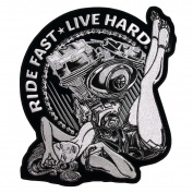 Motor Pinup Quality Biker Vest [ 23cm X 20cm ] Back Patch
