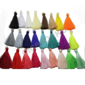 25pcs 4.5cm Silky Road Tassels with Gold Jump rings DIY Jewellery Accessory GD25ST24