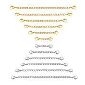 Sungrace Stainless Steel Necklace Bracelet Extender Chain Set