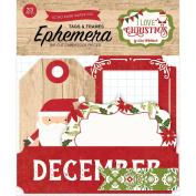 Echo Park Paper Company ILC114029 I Love Christmas Frames & Tags Ephemera