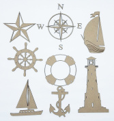 Nautical Chipboard Scrapbook Embellishments