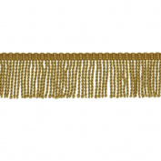 5.1cm BULLION FRINGE,MIDAS GOLD, 6 YDS