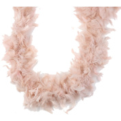 Midwest Design Turkey Feather Chandelle Boa, 2 yd, Rose Dust