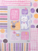 Manual Sugar and Spice and Everything Nice Fleece Printed Nursery Blanket Throw SASSEN 80cm x 100cm Multi