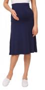 Happy Mama Women's Maternity Skater Skirt Overbump Elastic Panel Pregnancy. 983p