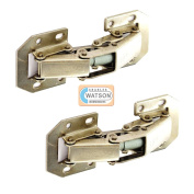 Pair of Easy On Hinge Lay On Sprung Cupboard / Cabinet Hinges