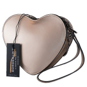 BORDERLINE - 100% Made in Italy - Real Leather Clutches - CUORE