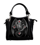 ANNE STOKES 3D Large Hand Bag Black PVC Goth Dragon Cross 'Gothic Guardian'