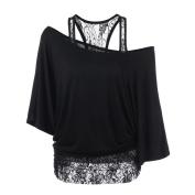 Women Blouse ,Women Plus Size Lace Loose Casual Long Sleeve Tops Blouse Shirt