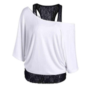 Women Blouse ,Women Plus Size Lace Loose Casual Long Sleeve Tops Blouse Shirt
