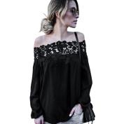 Women Blouse ,Women Summer Off Shoulder Lace Long Sleeve Tops Casual Blouse T Shirt
