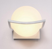 ZLL Modern simple bed head lamp bedroom glass wall lamp, led wall lamp, living room stairway aisle balcony lamp