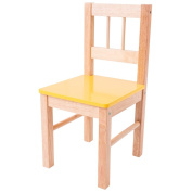 Bigjigs Toys Children's Wooden Yellow Chair - Bedroom Furniture and Accessories