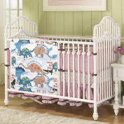 Love2Sleep FABRIC BABY NURSERY COT BED POCKETS organiser TIDY FOR NAPPIES, TOYS, WIPES - DINOSAURS