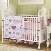 Love2Sleep FABRIC BABY NURSERY COT BED POCKETS organiser TIDY FOR NAPPIES, TOYS, WIPES - HEARTS