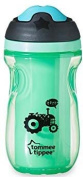 Childrens / Baby Insulated Active Sipper Cup - BPA Free - Non Spill - 260ml Volume - Green Tractor Design