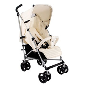 My Babiie MB01 Cream Stripe Stroller - Includes Raincover