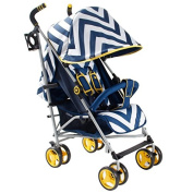 My Babiie MB02 Blue Chevron Stroller - Includes Raincover