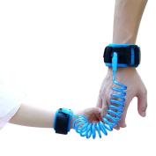 LUGOF2015 child anti lost safety wrist link belt which can't cut off, safety Hhrness strap lash wlking hand belt,travelling helper