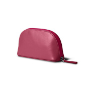 Lucrin - Makeup Bag (16 x 8.5 x 5.5 cm) - Fuchsia - Smooth Leather