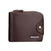 Small Leather Zip Around Credit Card Cash Holder Wallet Purse