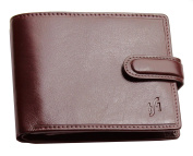 STARHIDE® Mens soft smooth genuine leather RFID Blocking wallet with coin pocket and ID window