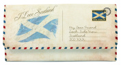 Scottish I Love Scotland Saltire Flag Postcard Tri Fold Purse