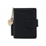 Lisianthus002 Women's Mini Leather Credit Card Case Wallets