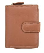 RFID SAFE ALVA Ladies Luxury Small Cognac Leather Purse