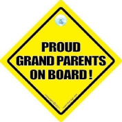 PROUD GRANDPARENTS ON BOARD Car Sign, Baby On Board Sign Style, Bumper Sticker Style, Grandparents Car Sign, Baby Car Signs Grandparent Car Sign, Novelty Car Sign, baby on board, Baby on Board Sign Style, Bumper Sticker Style, Grandad car sign, Grandma ..