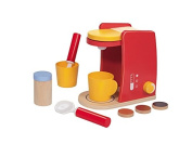 Wooden Toy Coffee Machine - Educational Toy 3 - 6 Years, 10 Piece Set