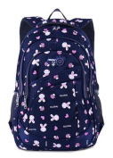 Lightweight School Bag Fashion Rabbits Printing Backpack for 7 to 12 Years Old Girls