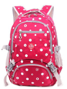 Students School Bag Fashion Dots Printing Rucksack for 7 to 12 Years Old Boys