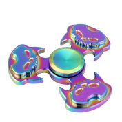 XILALU 3 Skull head Unique Fidget Spinner Triangle Single Finger Decompression Gyro toy Stress Reducer, Perfect For ADD, ADHD, Anxiety, and Autism Adult Children