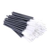 Xiaoyu 100PCS Disposable Mascara Wands Eyelash Applicator Eyebrow Brush - White