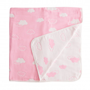 "Baby 100% Cotton 6 Layered Towel Blanket/Comforter/Swaddle- 43""x43""(110x110cm)"