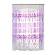 WinnerEco Maple Flower Window Curtain Panel Home Decoration for Sitting Room Balcony