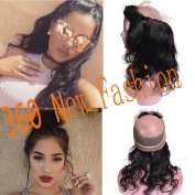 Pizazz 360 Full Lace Frontal Closure in Human Hair 8a Virgin Brazilian 360 Closure Body Wave Pre Plucked 360 Lace Frontal with Baby Hair