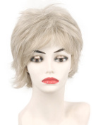 Short Layered Blonde Hair Wig with bangs for Fashion Ladies