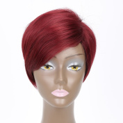 Straight Short Wigs with Side Bangs Cosplay Synthetic Wigs for Women Natural As Real Hair