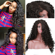 Loose Body Curly Synthetic Lace Front Wigs for Black Women Deep Part Lace Wig Heavy Density