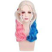 Smilco Suicide Squads Halloween Wig Women