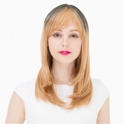 Mcoser Heat Resistant Synthetic Ombre Shoulder Length Wig for Women Bobo Hair