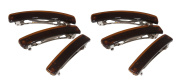 Classic Brown Hair Barrette - Set of Six