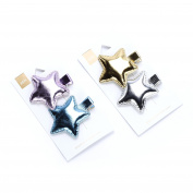 Peppercorn Kids 2-PC Metallic Star Hairclip Set of Two
